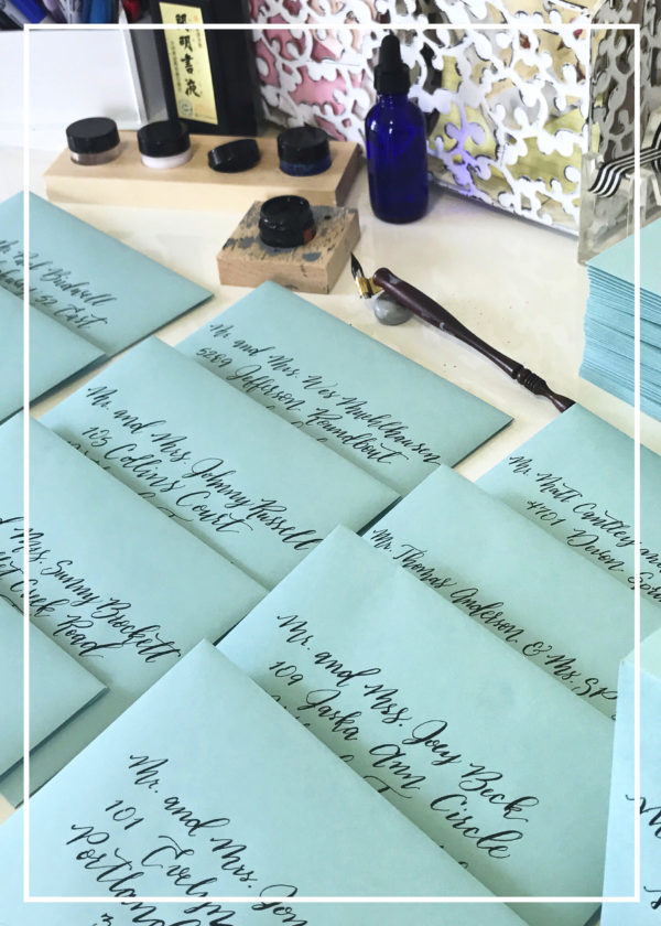 White Ink Calligraphy - Nashville Calligraphy with Classic